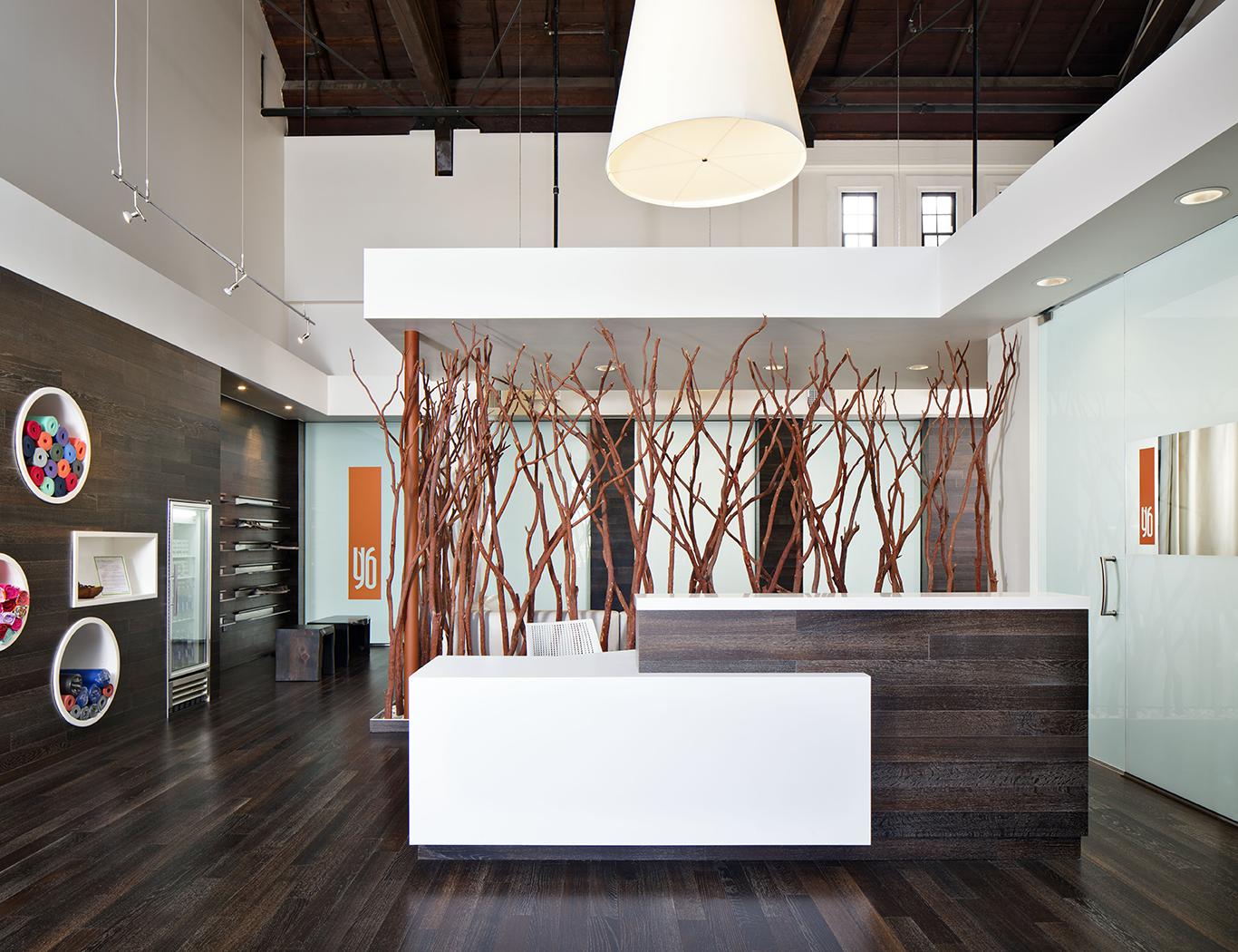 Yoga six koman group for Reception room interior design