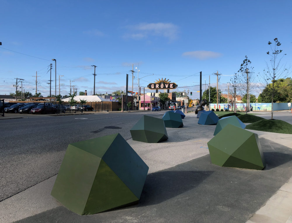 Artistic Bollards Changing the Landscape at Chroma in The Grove